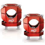 _S3 Aluminium Handlebar Clamp 28 mm Red | HA-CL13-R | Greenland MX_