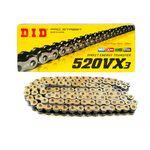 _DID VX3 520 ZB 118 Links O'Ring Chain Gold Serie | CD520VX3GL118ZJ-P | Greenland MX_