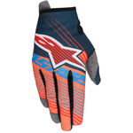 _Alpinestars Radar Tracker Youth Gloves Petrol/Orange Fluor/Blue   3541917-7074   Greenland MX_