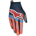 _Alpinestars Radar Tracker Youth Gloves Petrol/Orange Fluor/Blue | 3541917-7074 | Greenland MX_
