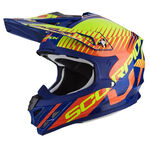 _Scorpion VX-15 Evo Air Sin Helmet Blue/Orange M | 35-247-204-M | Greenland MX_