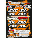 _4MX Assorted Stickers KTM | 01KITA606KTM | Greenland MX_