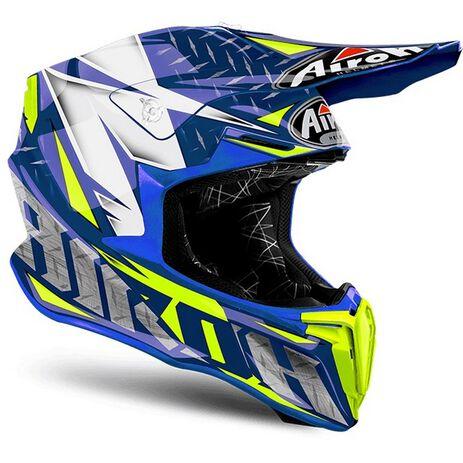 _Airoh Twist Iron Blue Gloss Helmet 2018   TWIR18   Greenland MX_