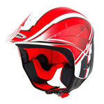 _Shiro K2 Grafic Trial Helmet Red | 000736R-P | Greenland MX_