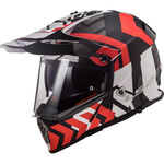 _LS2 Pioneer MX436 Helmet Xtreme Matt Black/Red | 404362532 | Greenland MX_
