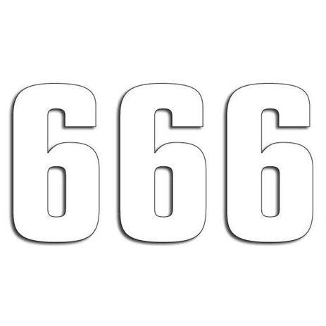 _Blackbird Vinyl Numbers # 6 White (16 x 7,5 cm) | 5048-10-6 | Greenland MX_