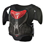 _Alpinestars A-5 S Youth Chest Protector Black/Red | 6740518-13-P | Greenland MX_