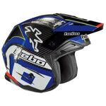 _Trial Hebo Zone 4 Carbon Helmet Blue   HC1061A   Greenland MX_