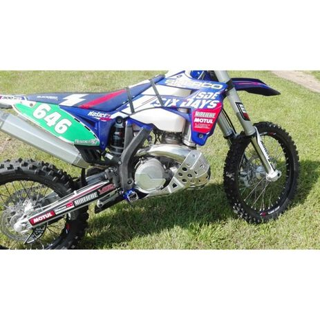 _P-Tech P-Tech Skid Plate with Exhaust Pipe Guard Sherco SE-R 250/300 14-19 | PK003 | Greenland MX_