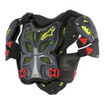 _Alpinestars A-10 Full Chest Protector Gray/Black/Red | 6700517-1431-P | Greenland MX_