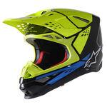 _Alpinestars Supertech S-M8 Factory Helmet Black/Fluo Yellow | 8302222-1578 | Greenland MX_