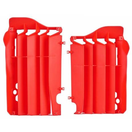 _Polisport Honda CRF 250 R 16-17 CRF 450 R 15-16 Radiator Louver Kit Red   8457400002   Greenland MX_