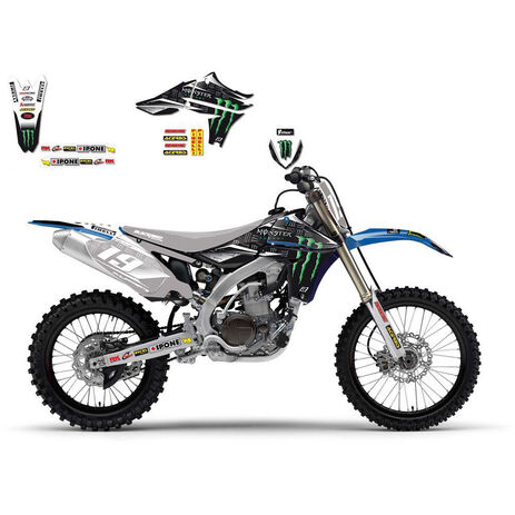 _Kit decal blackbird team yamaha monster energy YZF 450 10-13 | 2240R | Greenland MX_