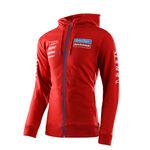 _Troy Lee Designs Gas Gas Team Zip Hoodie Red | 730318002-P | Greenland MX_