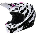 _Fox V3 Zebra Limited Edition Helmet | 23659-559 | Greenland MX_