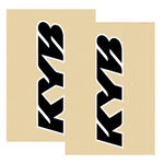 _KYB Fork Sticker Protectors Black/White | KYB15 | Greenland MX_