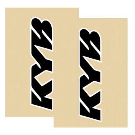 _KYB 2015 fork sticker protectors Black/White | KYB15 | Greenland MX_