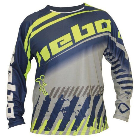 _Hebo End-Cross Stratos Jersey Blue | HE2537A | Greenland MX_