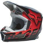 _Fox V1 Trice Helmet Gray/Orange | 26779-230 | Greenland MX_