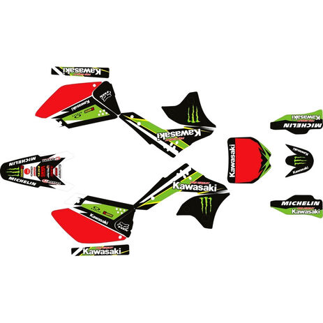 _Kawasaki KX 250 F 06-08 Full Sticker Kit Pro Circuit | SK-KX250F0608POPC-P | Greenland MX_