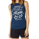 _Fox Throttle Maniac Muscle Top Women Blue | 21052-202-P | Greenland MX_