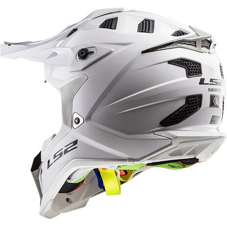 _LS2 MX470 Subverter Solid Helmet White | 404701002P | Greenland MX_