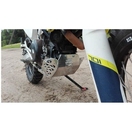 _P-Tech P-Tech Skid Plate with Exhaust Pipe Guard and Plastic Bottom KTM 690 End. 08-19 HVA 701 End. 14-19 | PK010 | Greenland MX_