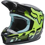 _Fox V1 Trice Youth Helmet Turquoise | 26782-176 | Greenland MX_