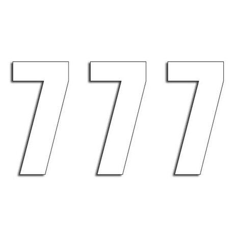_Blackbird Vinyl Numbers # 7 White (16 x 7,5 cm)   5048-10-7   Greenland MX_