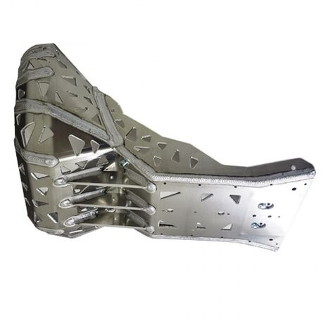 _P-Tech P-Tech Skid Plate with Exhaust Pipe Guard KTM EXC 250/300 HVA TE 17-19 | PK005 | Greenland MX_